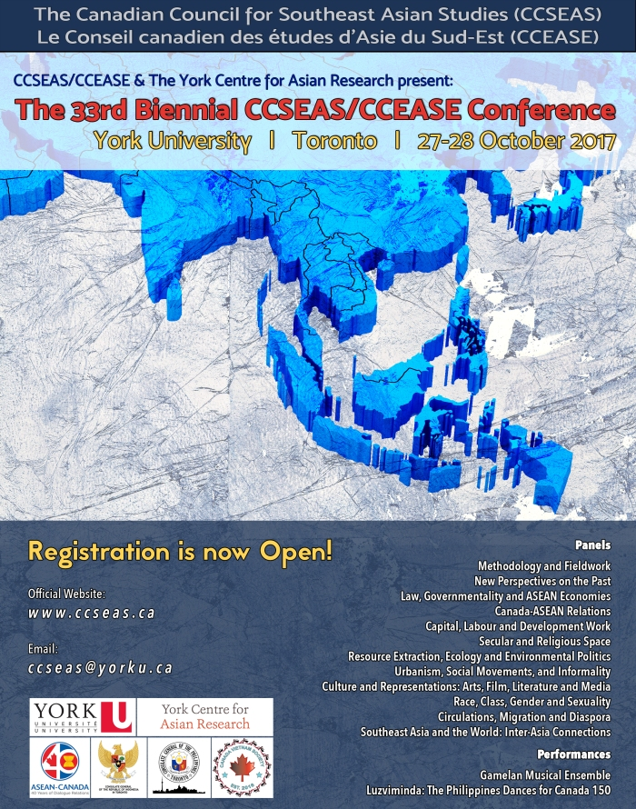 Canadian Council for Southeast Asian Studies conference registration now open