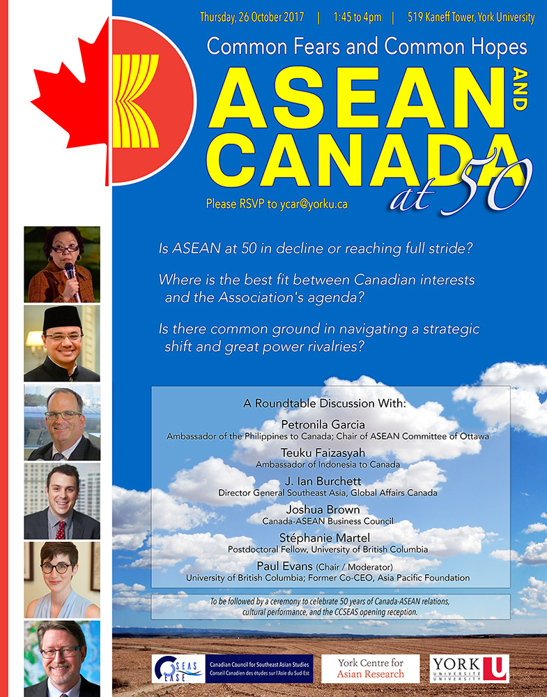 ASEAN and Canada at 50: Common Fears and Common Hopes